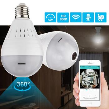 LED 960P Fisheye Camera Bulb