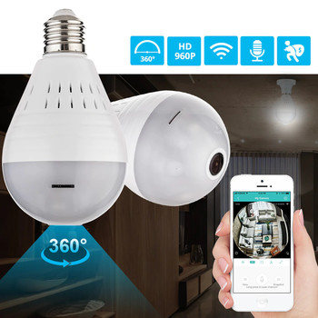 LED 960P Fisheye Camera Bulb