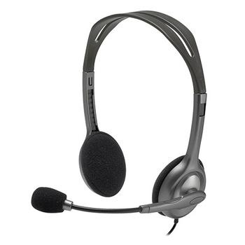 Logitech Stereo Headset w/Flexible Boom Microphone