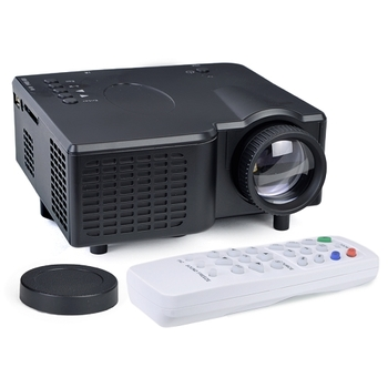 Mini LCD Projector with HDMI, VGA, SD, and Remote