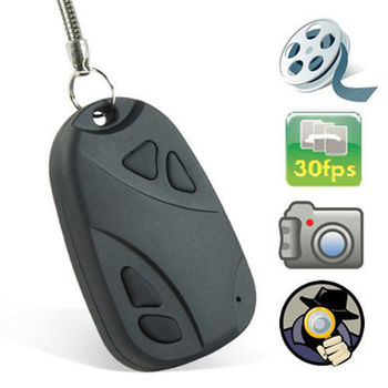MiniDV Camcorder Keychain with microSD Slot