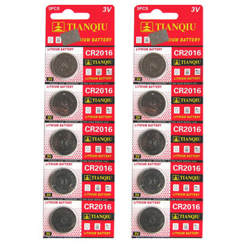 Quantity of 10 CR2016 3V Lithium Coin Batteries