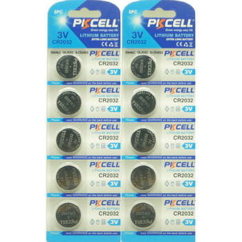 Quantity of 10 CR2032 3V Lithium Coin Batteries
