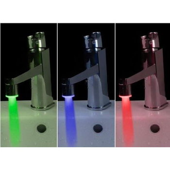 Temperature Sensing Water Glow LED Faucet Light