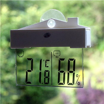 Transparent Digital Thermometer and Hygrometer