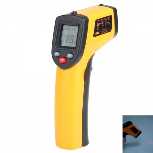 yellow black infrared digital temperature gun property room