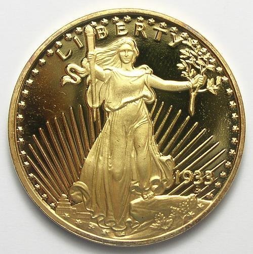 24 carat gold plated 1933 st gaudens double eagle tribute