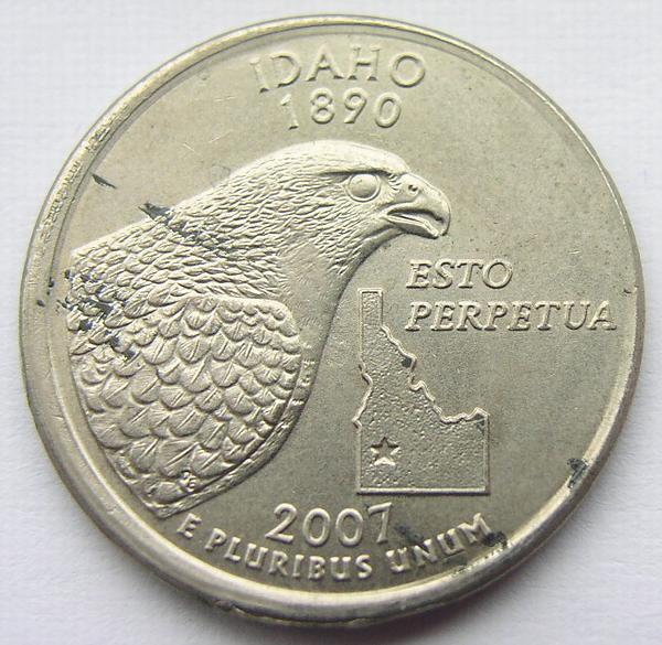 2007-P IDAHO BRILLIANT UNCIRCULATED STATE QUARTER