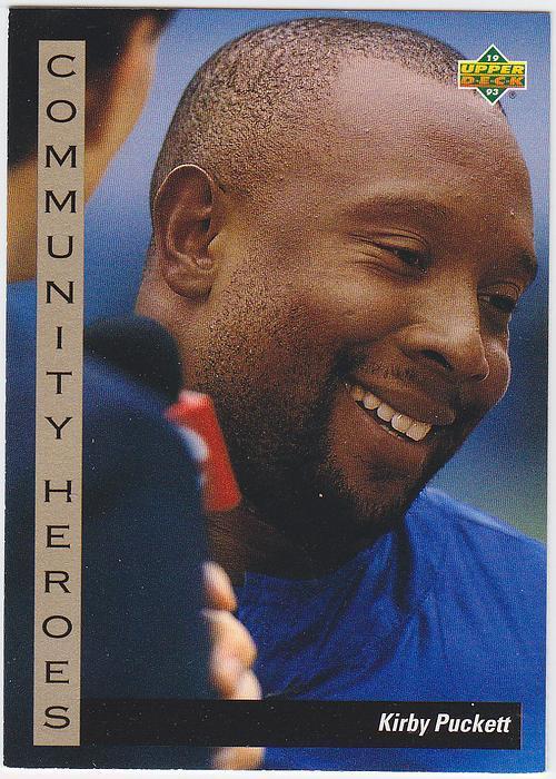 1993 Upper Deck Community Heroes 34 Kirby Puckett Baseball Card