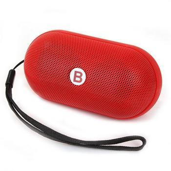 Mini Pills Wireless Bluetooth Stereo Speaker With TF Card Bulit-in Mic Hands free Red