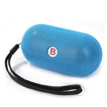 Mini Pills Wireless Bluetooth Stereo Speaker With TF Card Bulit-in Mic Hands free Blue