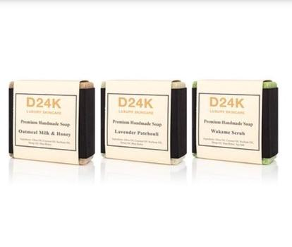 D'OR 24K Luxury Skincare Premium Handmade Soap - Set of Three Retail $147