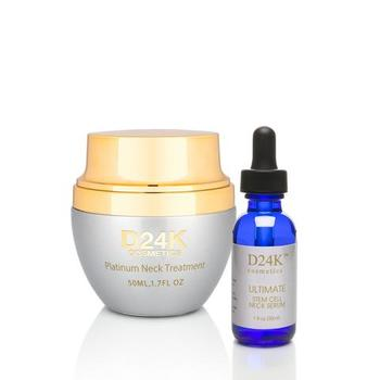 D24K Platinum Neck Treatment & Ultimate Stem Cell Neck Serum D24K Retail $890.00