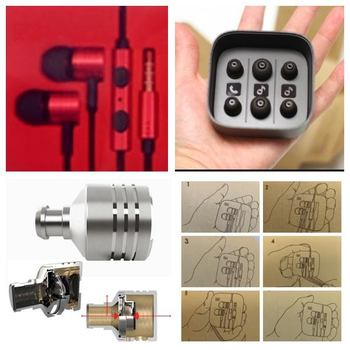 ORIGINAL XIAOMI AWARD WINNING Earphone Headset Mic Wire Control jack COLOR RED