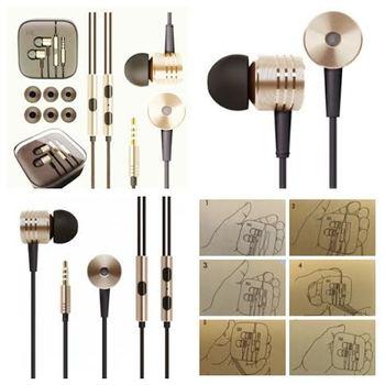 ORIGINAL XIAOMI AWARD WINNING Earphone Headset Mic Wire Control jack COLOR GOLD