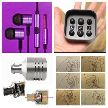 ORIGINAL XIAOMI AWARD WINNING Earphone Headset Mic Wire Control jack COLOR PURPLE