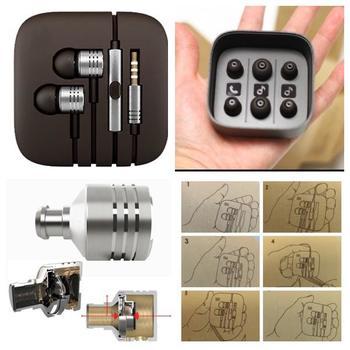 ORIGINAL XIAOMI AWARD WINNING Earphone Headset Mic Wire Control jack COLOR SILVER