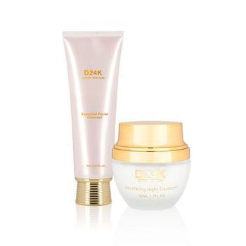 D'or  D24K Resurfacing Night Treatment / Essential Facial Cleanser $564.95