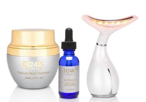 DERMA NECK LIFT with Light Therapy Plus Ultimate Stem Cell Neck Serum Plus Neck  Décolleté Cream  Retail $2879