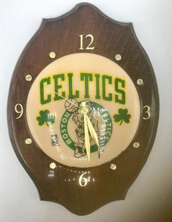 Rare Find Vintage Celtics Boston Wall Mount Clock