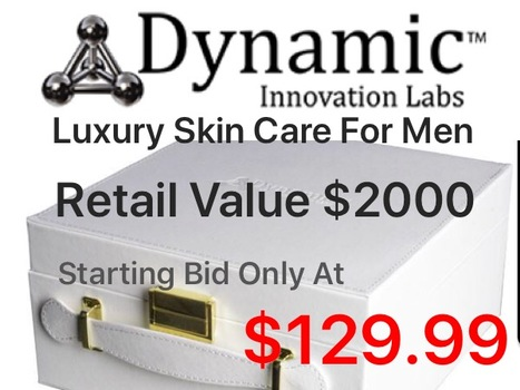 DYNAMIC SONIC LUXURY MEN SKIN CARE MYSTERY GIFT BOX RETAIL VALUE $2000