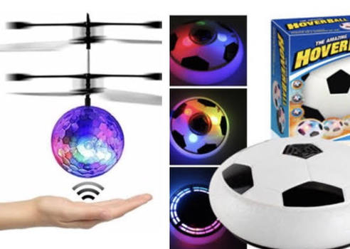 Hover Ball With LED Lights Sports Flying Disk With Foam Bumpers Plus Flying Ball Infrared Induction Helicopter Ball with Rainbow Shinning LED Lights and Remote Control