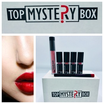 Lipstick ,Lip Gloss, Retractable waterproof lip liner from Top Mystery box 6pc