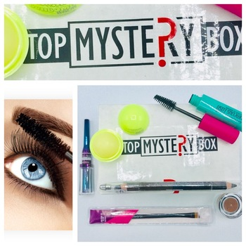 Eyeliner Precision waterproof, Mascara ,Double sided jumbo pencil with sharpener,Brow pomade,Angled brow brash,lip balm  from Top Mystery box 6pc