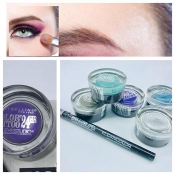 MAYBELLINE NY Eye Shadow Color Tattoo By Eye studio 24HR,Mellow gel matte waterproof. 12HR Liquid like eye pencil (Blackout) from Top Mystery box 6pc