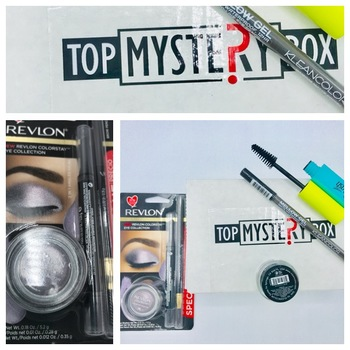 Revlon color stay  long were eye  shadow collection, 2 in 1 angled soft kajal plus liner brush for bold smoky look,Brow soft pencil ,Mascara, Brow pomade, Mellow gel pencil from Top Mystery box 6pc