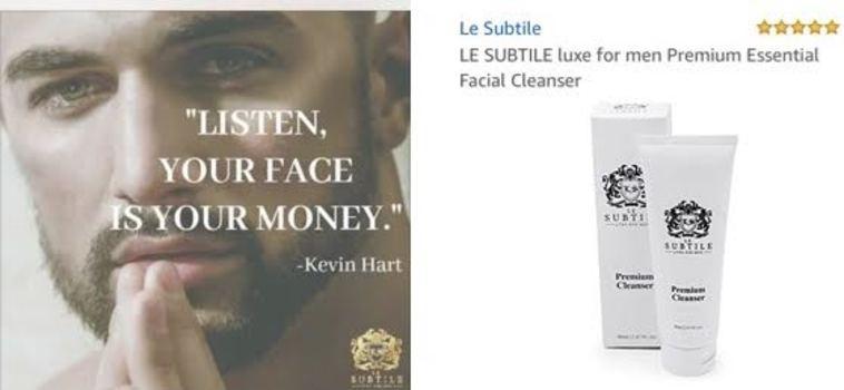 LE SUBTILE luxe for men Premium Essential Facial Cleanser Retail $89