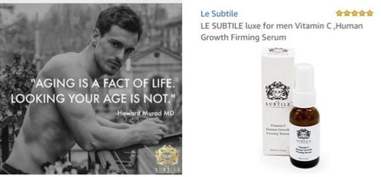 LE SUBTILE luxe for men Vitamin C ,Human Growth Firming Serum Retail $129