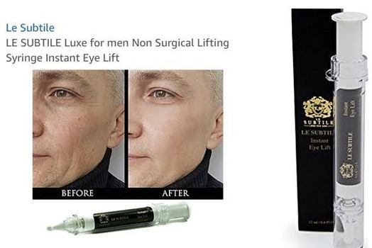 LE SUBTILE Luxe for men Non Surgical Lifting Syringe Instant Eye Lift Retail $299