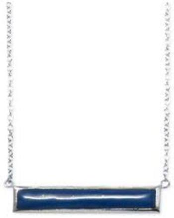 Women's Dyed Lapis Bar Necklace In Sterling Silver (3 Ct. T.w.) Retail $70