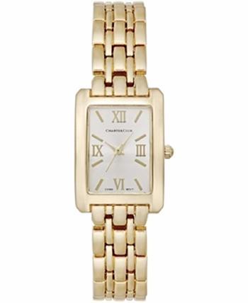 Charter Club Women Gold-tone Stainless Steel Bracelet Watch 22mm Analog