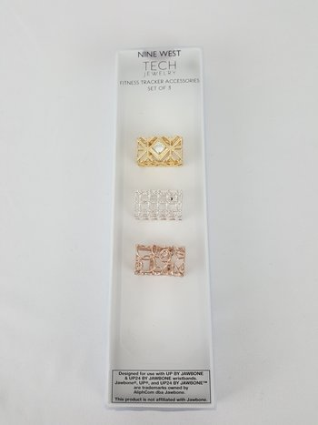 Nine West 3 Fitness Tracker Covers Gold/Silver/Rose for UP & UP24 by JAWBONE
