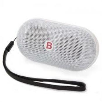 Mini Pills Wireless Bluetooth Stereo Speaker With TF Card Bulit-in Mic Hands free white