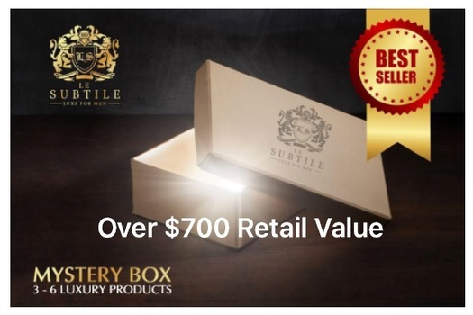 MEN MYSTERY LUXURY BEAUTY BOX , AUCTION START 85% TO 90% LESS THAN RETAIL VALUE RETAIL: OVER $700