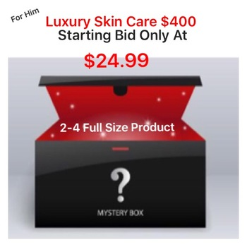 MEN MYSTERY LUXURY BEAUTY BOX , AUCTION START 85% TO 90% LESS THAN RETAIL VALUE RETAIL: OVER $400