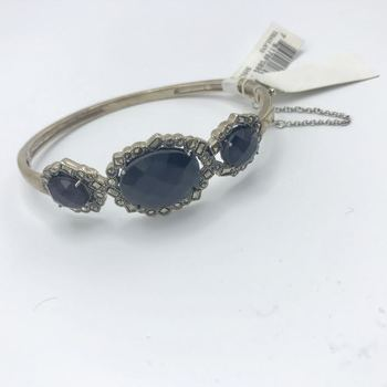 Genevieve & Grace Marcasite And Purple Glass Stone Bengal In Sterling Silver Retail $550