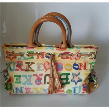 Dooney Bourke Multi Color Tassel Tote Satchel Bag
