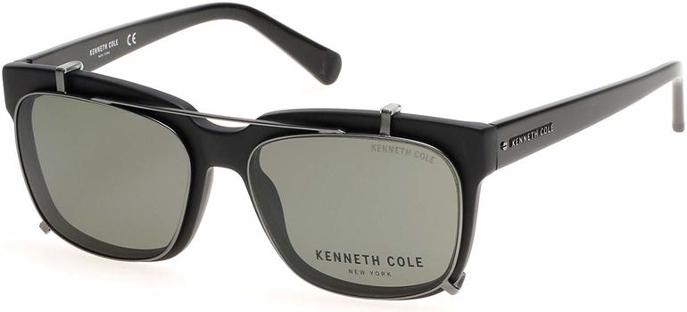 Kenneth Cole Eyeglasses with Sunglasses Clip KC 0256 02N 55mm - 14