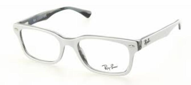 1fb22346af Ray Ban RB 5286 5175 White Eyeglasses RX 51mm - 84