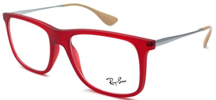 Ray Ban RB 7054 5525 Red Square Frames Eyeglasses 51mm - 163 ... a0d26bec3