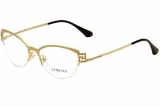 Versace Mod. 1239-B 1352 Gold Frames Crystals Eyeglasses 53mm - 96 ...