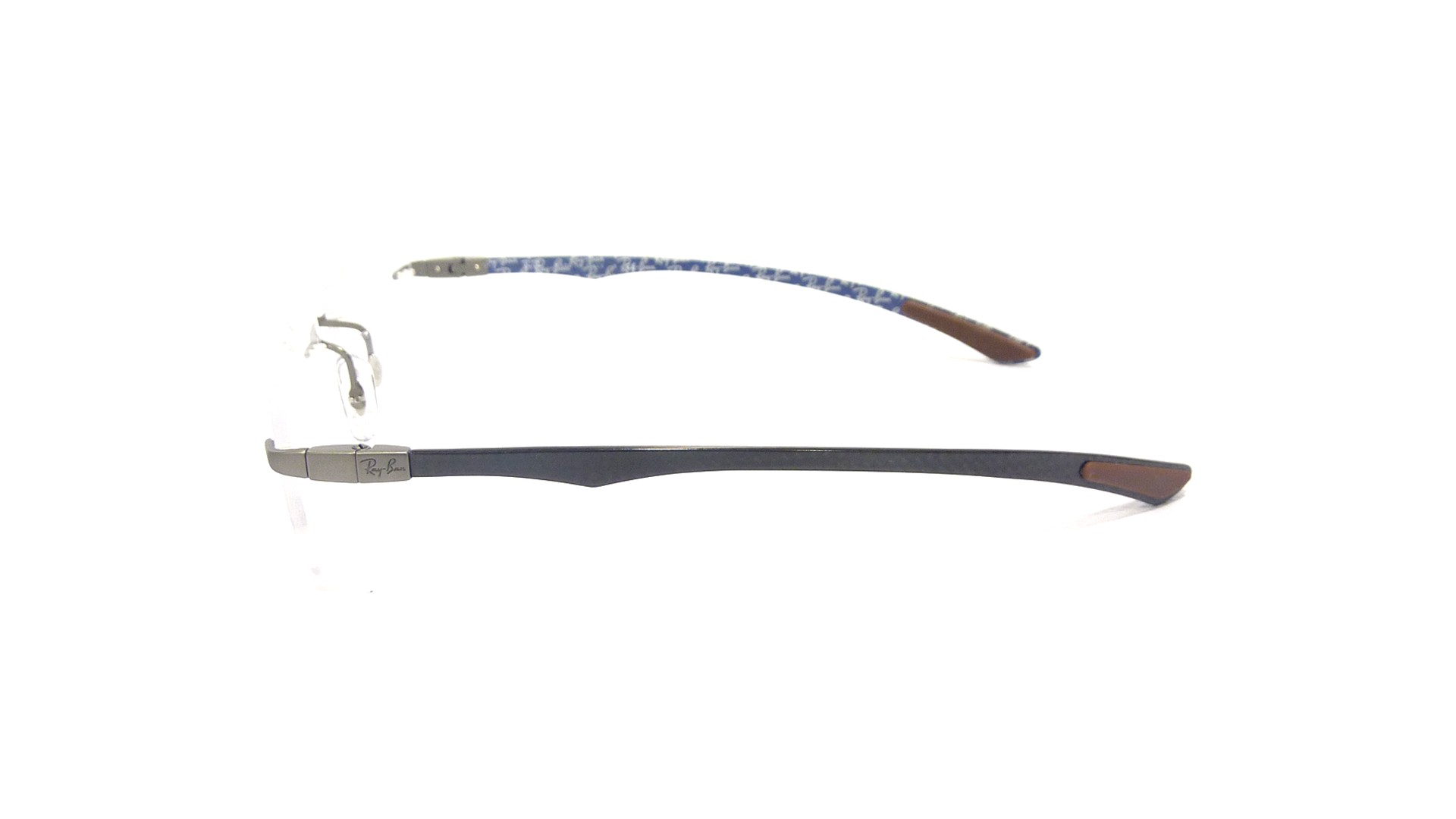 e8bbea1841 Ray Ban RB 8404 2701 Carbon Fiber Rimless Eyeglasses Frames 53mm - 40