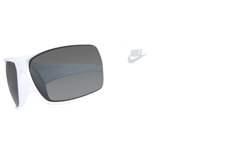 dde1a66aee0 Image 1 of 2. Nike Sunglasses Grind EVO 0649 101 White Frame Grey Polarized  Lenses ...
