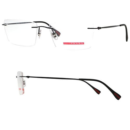 Prada VPS 55E 1BO-1O1 Rimless Eyeglasses Frames 52mm - 141 ...