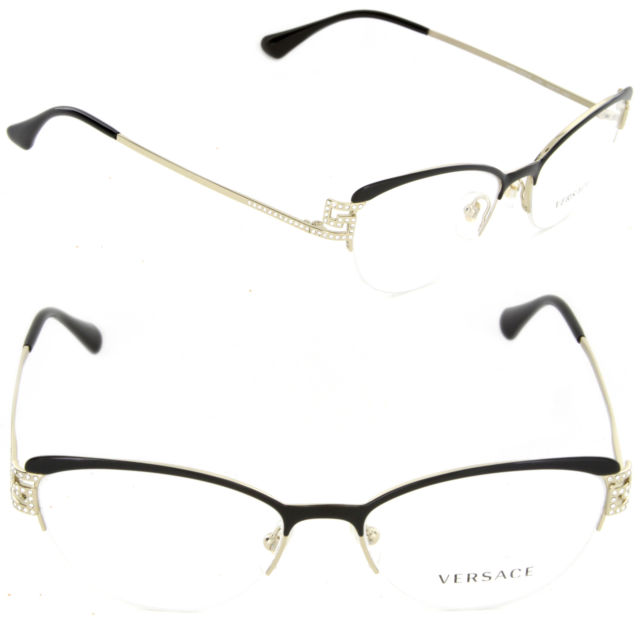 3174a11ad05 An image relevant to this listing. Versace Mod. 1239-B 1291 Frames Crystals  Eyeglasses 53mm - 139