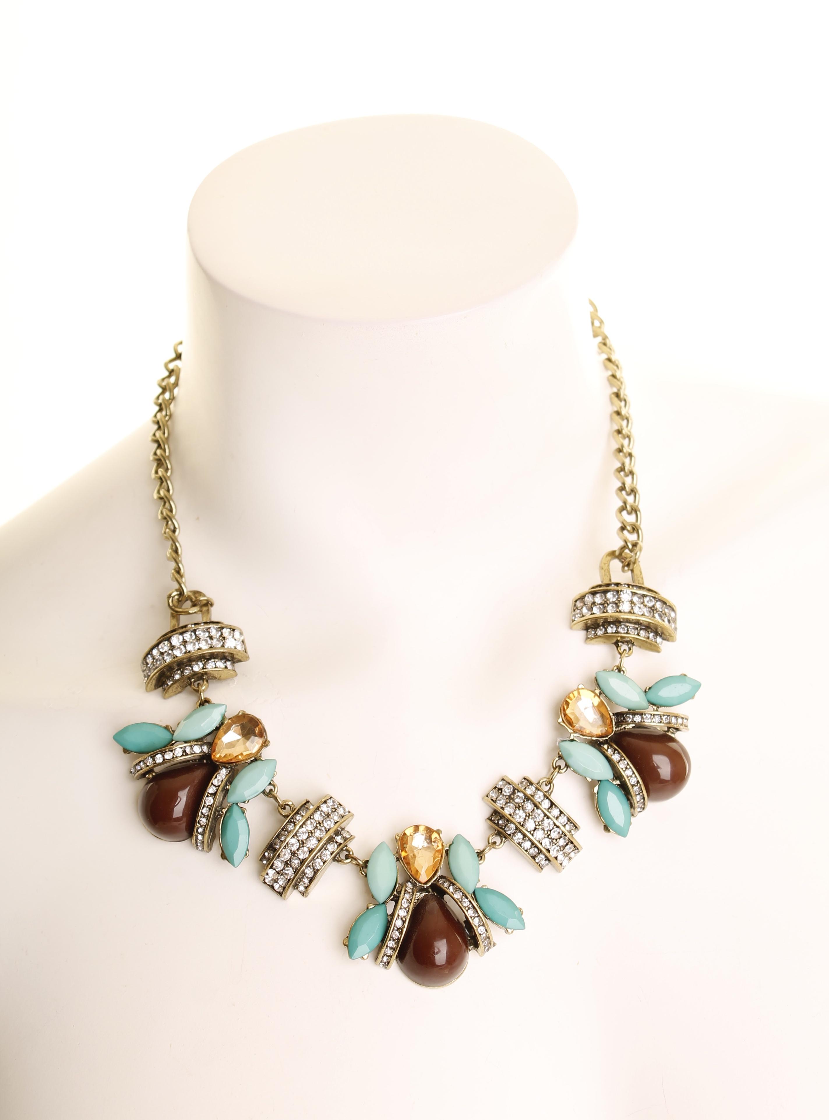 Cj Costume Jewelry Brilliant Aqua Faux And Tanzanite Necklace Earring Set